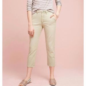 Chino by Anthropologie Mint Green Slim Crop Pants